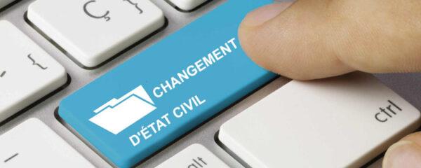 changement d'état civil